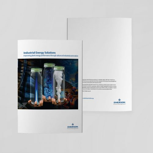 Emerson Industrial Energy Solutions brochure front and back