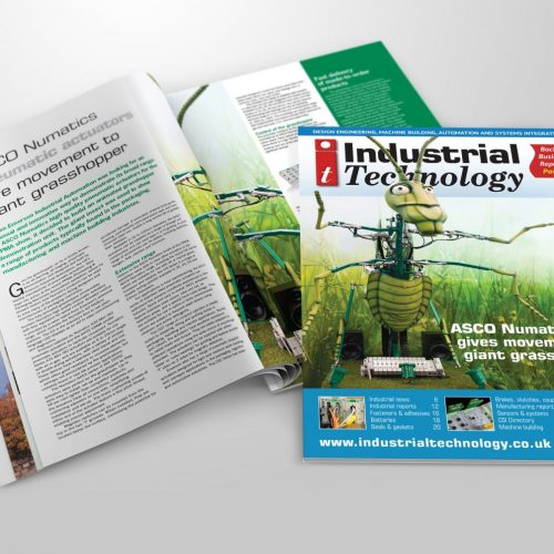 Industrial Technology magazine ASCO Grasshopper inside DPS spread and cover