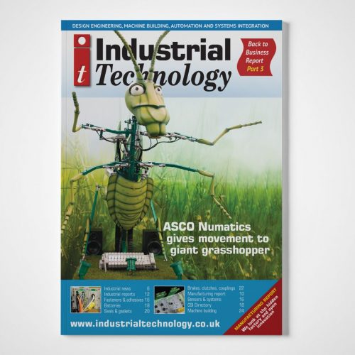 Industrial Technology magazine ASCO Grasshopper front cover