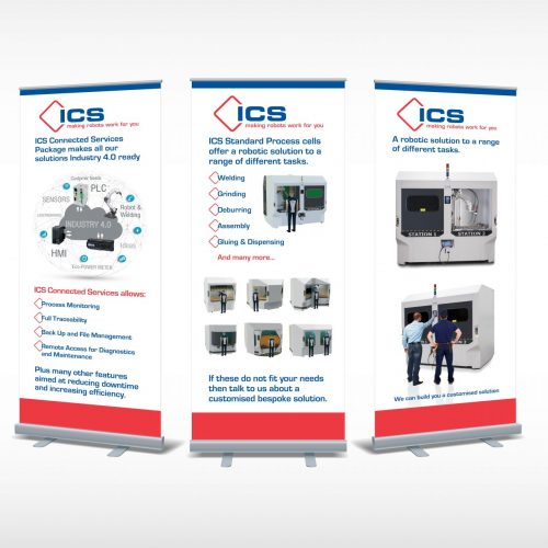 ICS popup banner exhibition display panels
