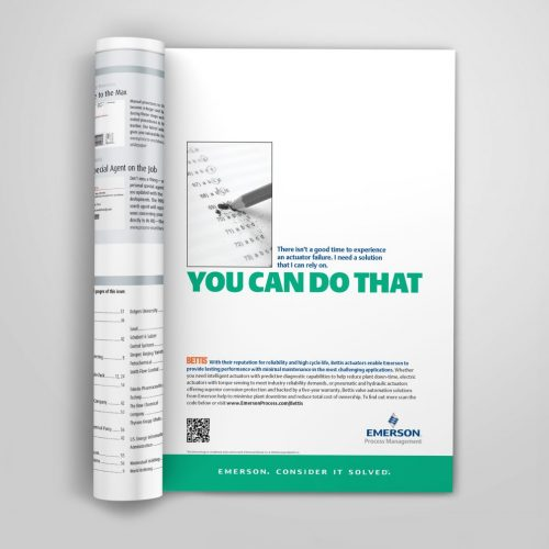 BETTIS actuator ad for UK magazine advertisement placement