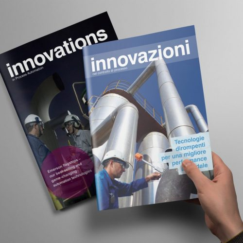 Emerson Innovations in Process Automation issue 11 & 13 covers