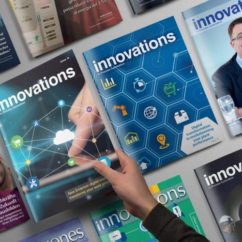 Innovations magazine issue covers